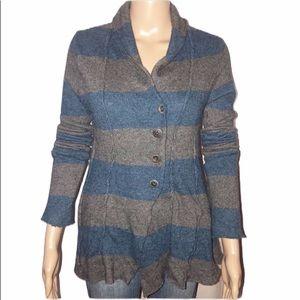 Free People wool blend stripped cardigan